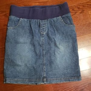 In Due Time maternity blue Jean skirt size Med